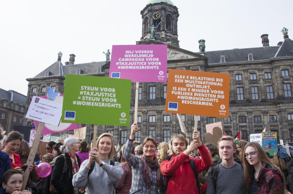 Foto's Women's March voor Oxfam Novib