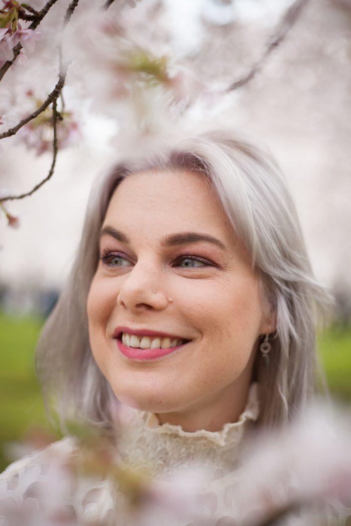 portret foto, spontaan, bloesem