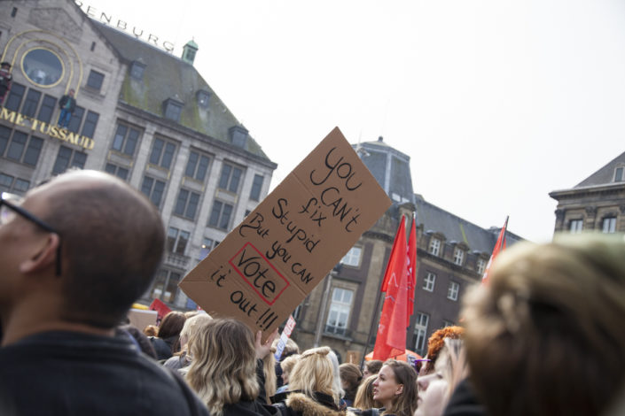 Womens March Amsterdam, maart 2017, bmoments