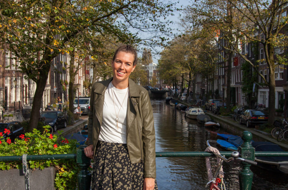 Portret sessie op de Amsterdamse grachten