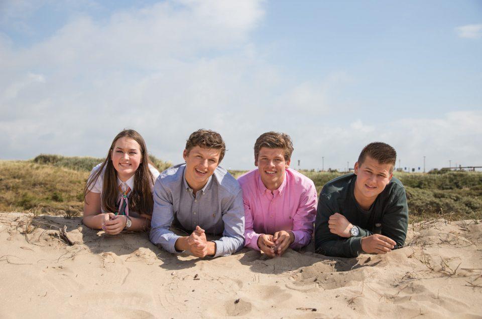 Familie fotoshoot met tieners