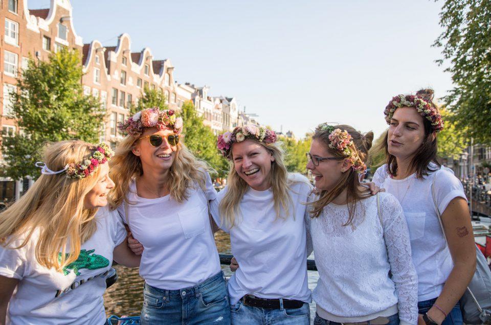 Vriendinnen fotoshoot in Amsterdam