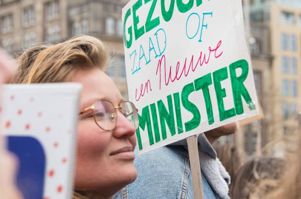 Fotoverslag Women's March tegen Minister Bruin's beslissing