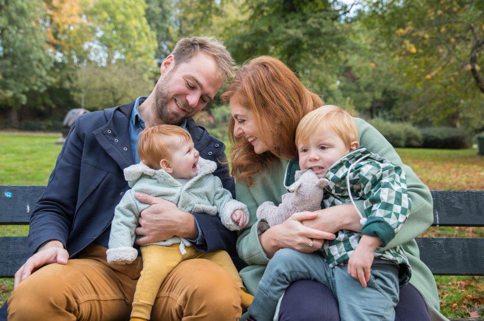 Familie foto's in een herfstig Westerpark