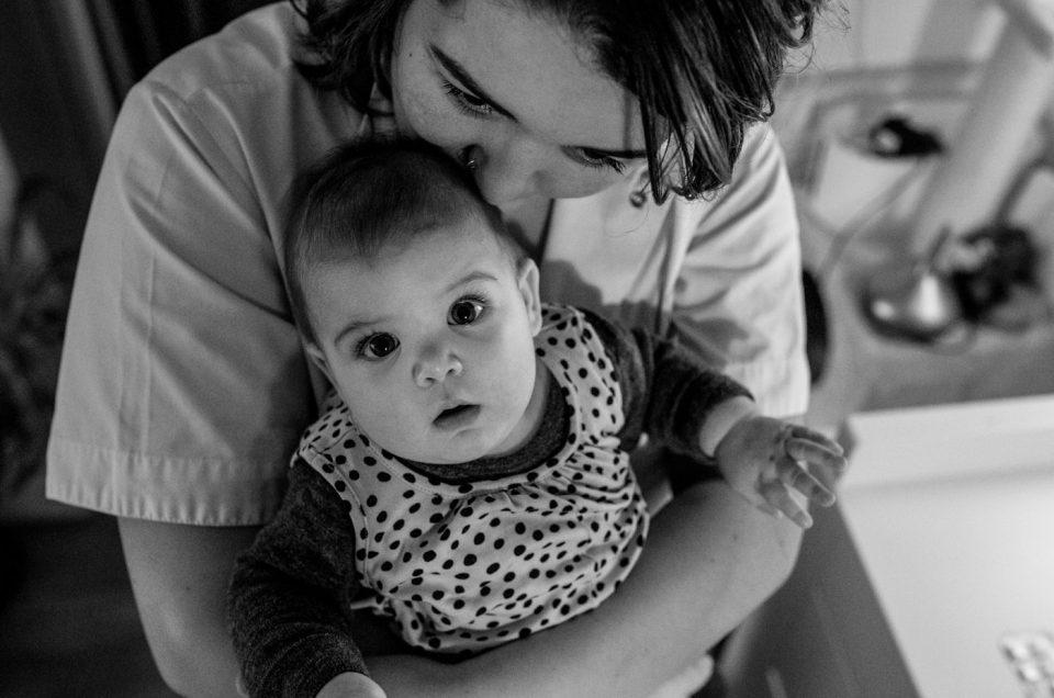 Portret van een lieve moeder