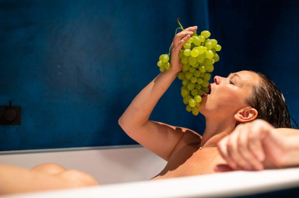 Personal branding shoot met appels en druiven